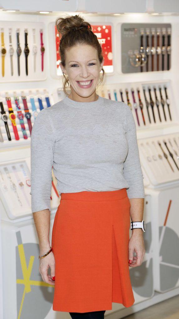 Simone Treacy at the launch of the newly refurbished Fashion Room at Weir & Sons, Grafton Street-photo Kieran Harnett