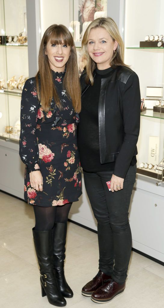 Sorcha and Deborah Veale at the launch of the newly refurbished Fashion Room at Weir & Sons, Grafton Street-photo Kieran Harnett