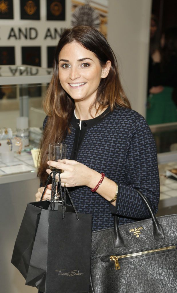 Zara Roden at the launch of the newly refurbished Fashion Room at Weir & Sons, Grafton Street-photo Kieran Harnett