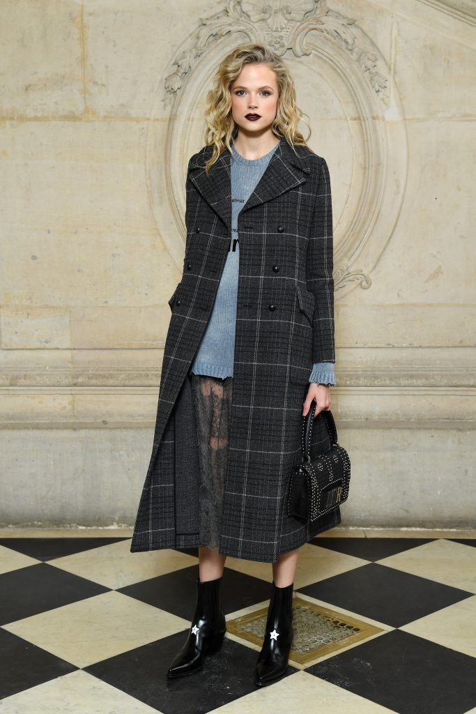 Gabriella Wilde attends the Christian Dior show as part of the Paris Fashion Week Womenswear Fall/Winter 2018/2019 on February 27, 2018 in Paris, France.  (Photo by Pascal Le Segretain/Getty Images for Christian Dior)