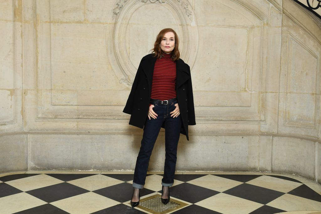 Isabelle Huppert attends the Christian Dior show as part of the Paris Fashion Week Womenswear Fall/Winter 2018/2019 on February 27, 2018 in Paris, France.  (Photo by Pascal Le Segretain/Getty Images for Christian Dior)