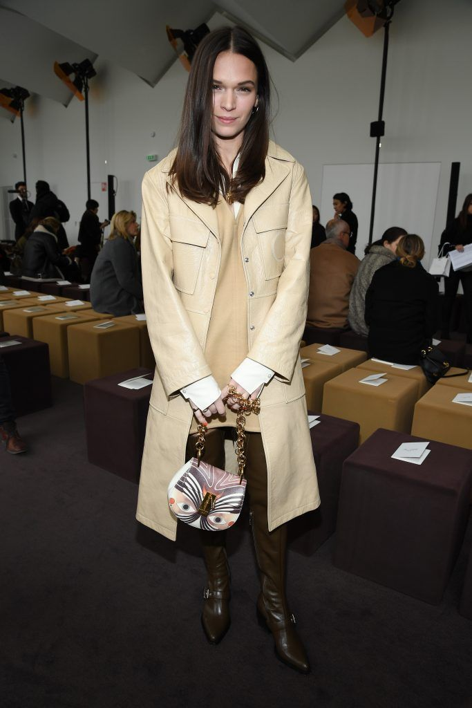 Anna Brewster attends the Chloe  show as part of the Paris Fashion Week Womenswear Fall/Winter 2018/2019 on March 1, 2018 in Paris, France.  (Photo by Pascal Le Segretain/Getty Images)
