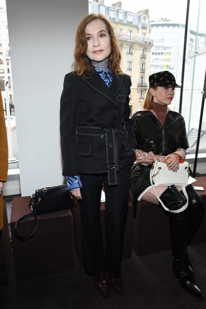Isabelle Huppert attends the Chloe  show as part of the Paris Fashion Week Womenswear Fall/Winter 2018/2019 on March 1, 2018 in Paris, France.  (Photo by Pascal Le Segretain/Getty Images)