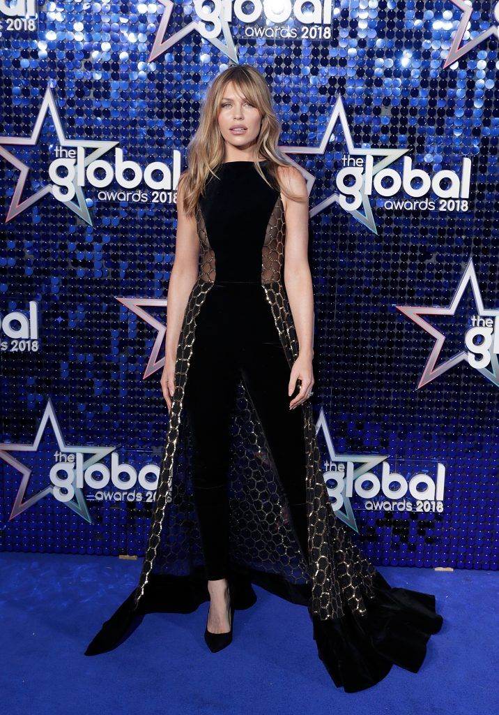 Abbey Clancy attends The Global Awards 2018 at Eventim Apollo, Hammersmith on March 1, 2018 in London, England.  (Photo by John Phillips/John Phillips/Getty Images)