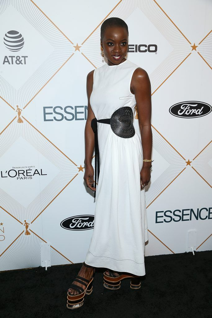 Danai Gurira attends the Essence 11th Annual Black Women In Hollywood Awards Gala at the Beverly Wilshire Four Seasons Hotel on March 1, 2018 in Beverly Hills, California.  (Photo by Phillip Faraone/Getty Images)