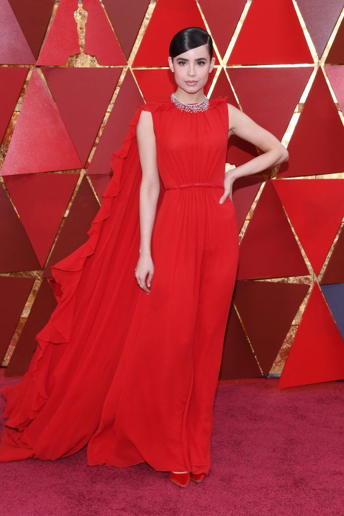 HOLLYWOOD, CA - MARCH 04:  Sofia Carson attends the 90th Annual Academy Awards at Hollywood & Highland Center on March 4, 2018 in Hollywood, California.  (Photo by Kevork Djansezian/Getty Images)