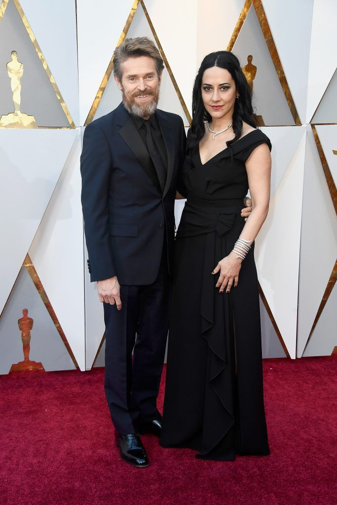 HOLLYWOOD, CA - MARCH 04:  Willem Dafoe (L) and Giada Colagrande attend the 90th Annual Academy Awards at Hollywood & Highland Center on March 4, 2018 in Hollywood, California.  (Photo by Frazer Harrison/Getty Images)