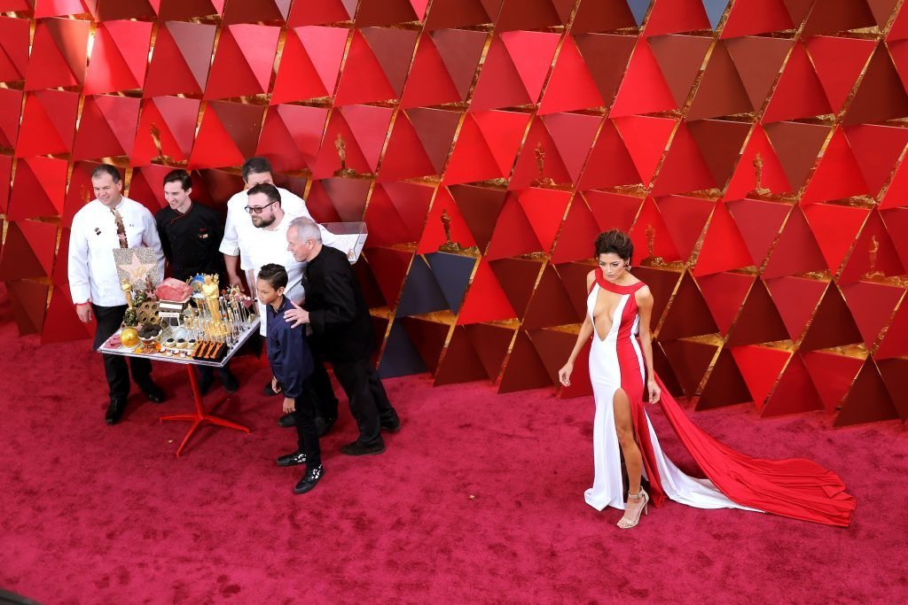 HOLLYWOOD, CA - MARCH 04:  Blanca Blanco (R) attends the 90th Annual Academy Awards at Hollywood & Highland Center on March 4, 2018 in Hollywood, California.  (Photo by Neilson Barnard/Getty Images)