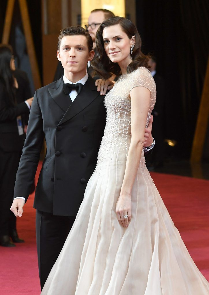 HOLLYWOOD, CA - MARCH 04:  Tom Holland (L) and  Allison Williams attend the 90th Annual Academy Awards at Hollywood & Highland Center on March 4, 2018 in Hollywood, California.  (Photo by Kevork Djansezian/Getty Images)