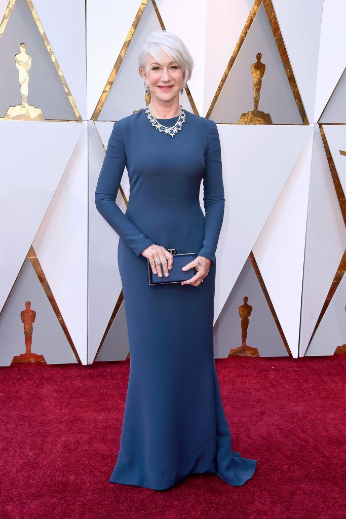 HOLLYWOOD, CA - MARCH 04: Helen Mirren attends the 90th Annual Academy Awards at Hollywood & Highland Center on March 4, 2018 in Hollywood, California.  (Photo by Frazer Harrison/Getty Images)