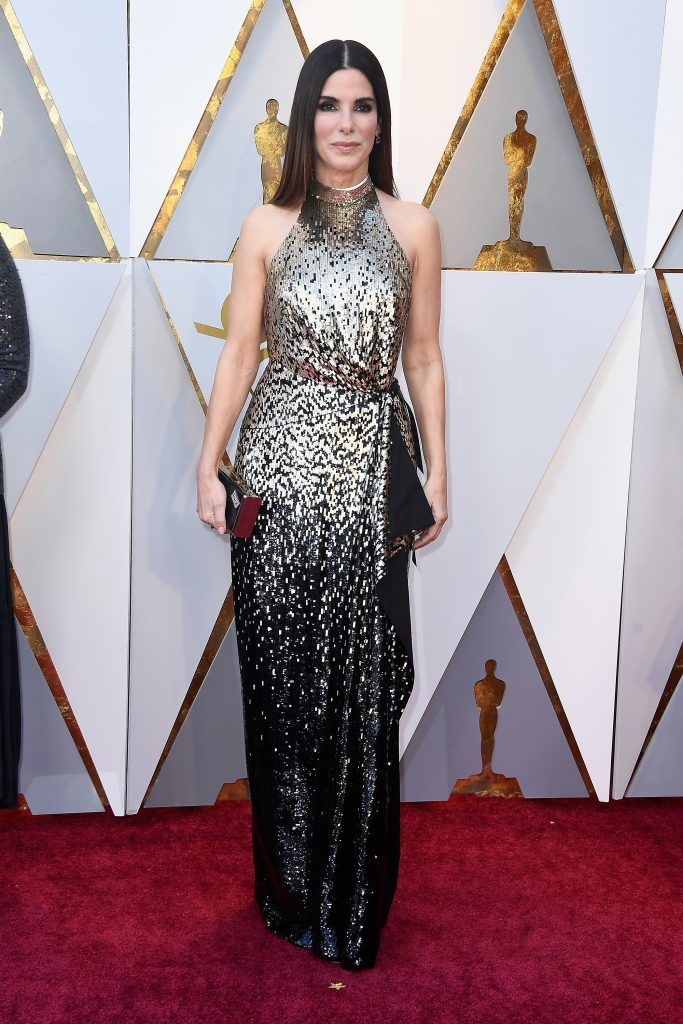 HOLLYWOOD, CA - MARCH 04:  Sandra Bullock attends the 90th Annual Academy Awards at Hollywood & Highland Center on March 4, 2018 in Hollywood, California.  (Photo by Frazer Harrison/Getty Images)