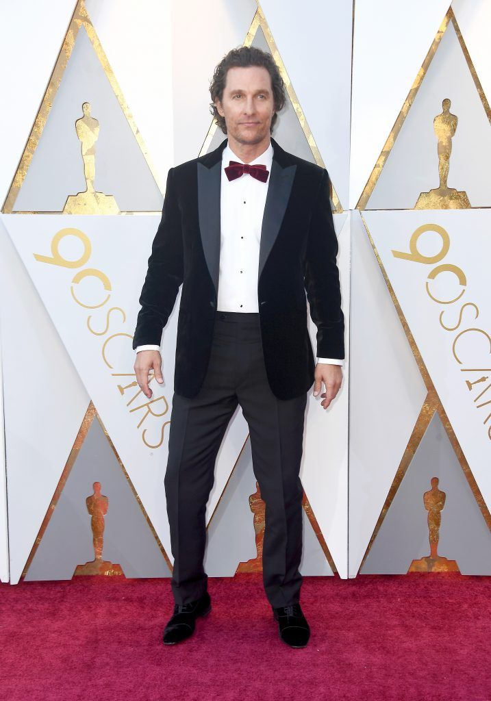 HOLLYWOOD, CA - MARCH 04: Matthew McConaughey attends the 90th Annual Academy Awards at Hollywood & Highland Center on March 4, 2018 in Hollywood, California.  (Photo by Frazer Harrison/Getty Images)