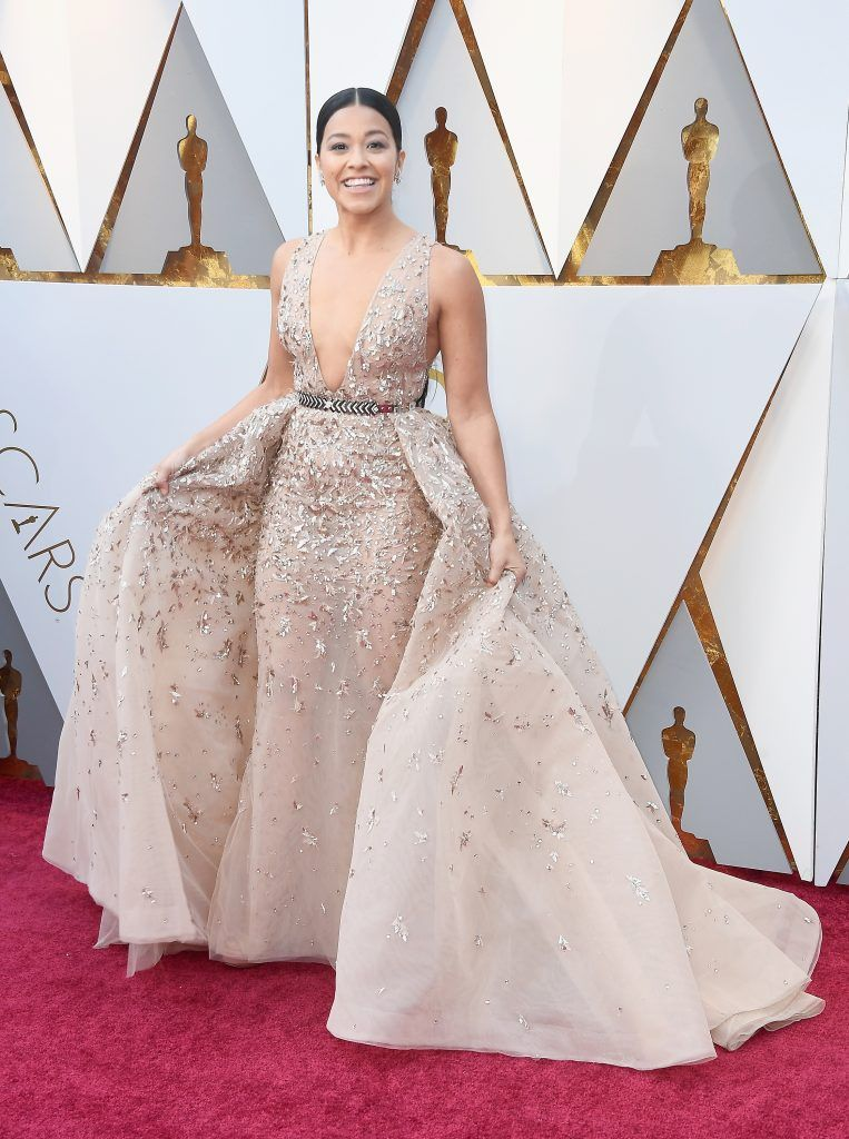 HOLLYWOOD, CA - MARCH 04:  Gina Rodriguez attends the 90th Annual Academy Awards at Hollywood & Highland Center on March 4, 2018 in Hollywood, California.  (Photo by Frazer Harrison/Getty Images)