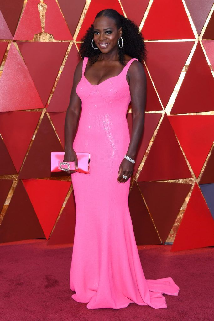 HOLLYWOOD, CA - MARCH 04:  Viola Davis attends the 90th Annual Academy Awards at Hollywood & Highland Center on March 4, 2018 in Hollywood, California.  (Photo by Kevork Djansezian/Getty Images)