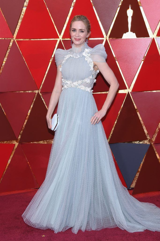 HOLLYWOOD, CA - MARCH 04: Emily Blunt attends the 90th Annual Academy Awards at Hollywood & Highland Center on March 4, 2018 in Hollywood, California.  (Photo by Kevork Djansezian/Getty Images)