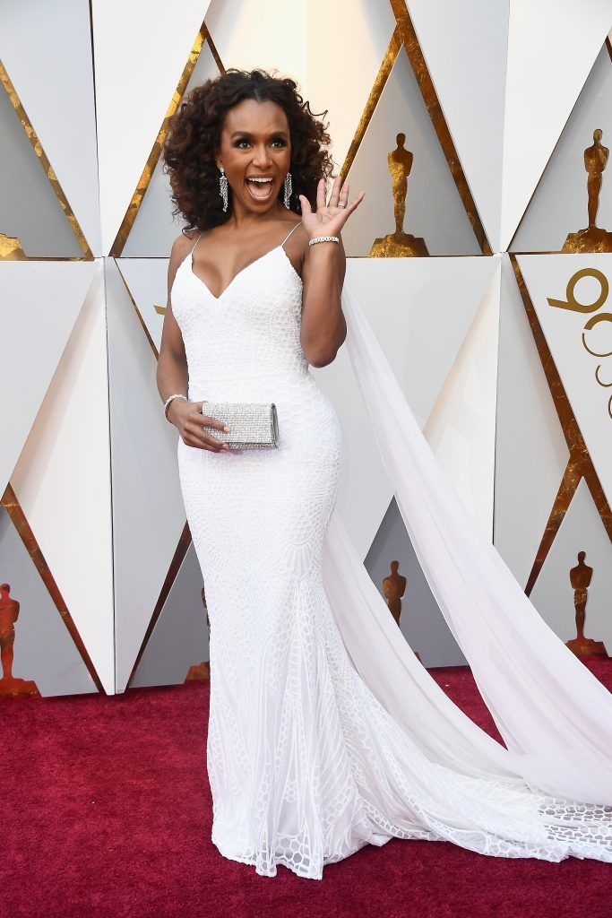 HOLLYWOOD, CA - MARCH 04:  Janet Mock attends the 90th Annual Academy Awards at Hollywood & Highland Center on March 4, 2018 in Hollywood, California.  (Photo by Frazer Harrison/Getty Images)