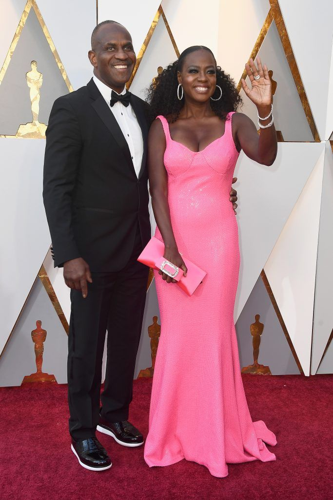 HOLLYWOOD, CA - MARCH 04:  Julius Tennon (L) and Viola Davis attend the 90th Annual Academy Awards at Hollywood & Highland Center on March 4, 2018 in Hollywood, California.  (Photo by Frazer Harrison/Getty Images)