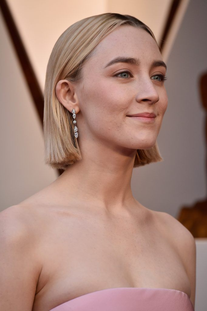 HOLLYWOOD, CA - MARCH 04:  Saoirse Ronan attends the 90th Annual Academy Awards at Hollywood & Highland Center on March 4, 2018 in Hollywood, California.  (Photo by Frazer Harrison/Getty Images)