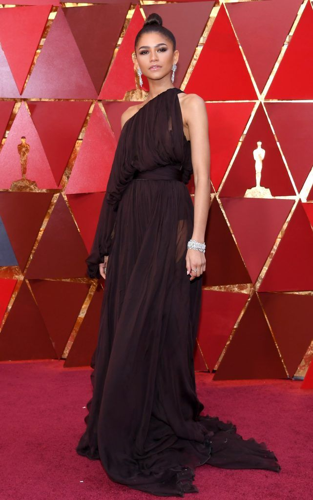 HOLLYWOOD, CA - MARCH 04:  Zendaya  attends the 90th Annual Academy Awards at Hollywood & Highland Center on March 4, 2018 in Hollywood, California.  (Photo by Kevork Djansezian/Getty Images)