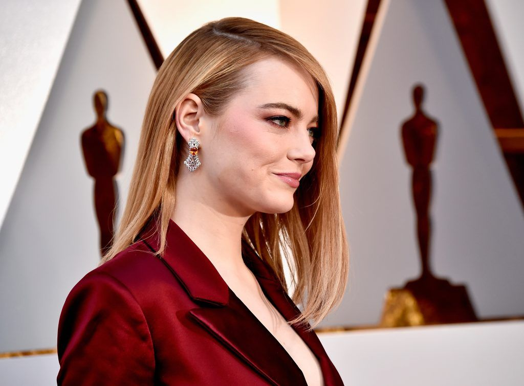 HOLLYWOOD, CA - MARCH 04:  Emma Stone attends the 90th Annual Academy Awards at Hollywood & Highland Center on March 4, 2018 in Hollywood, California.  (Photo by Frazer Harrison/Getty Images)
