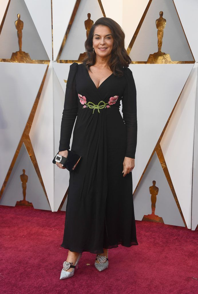 HOLLYWOOD, CA - MARCH 04: Annabella Sciorra attends the 90th Annual Academy Awards at Hollywood & Highland Center on March 4, 2018 in Hollywood, California.  (Photo by Frazer Harrison/Getty Images)