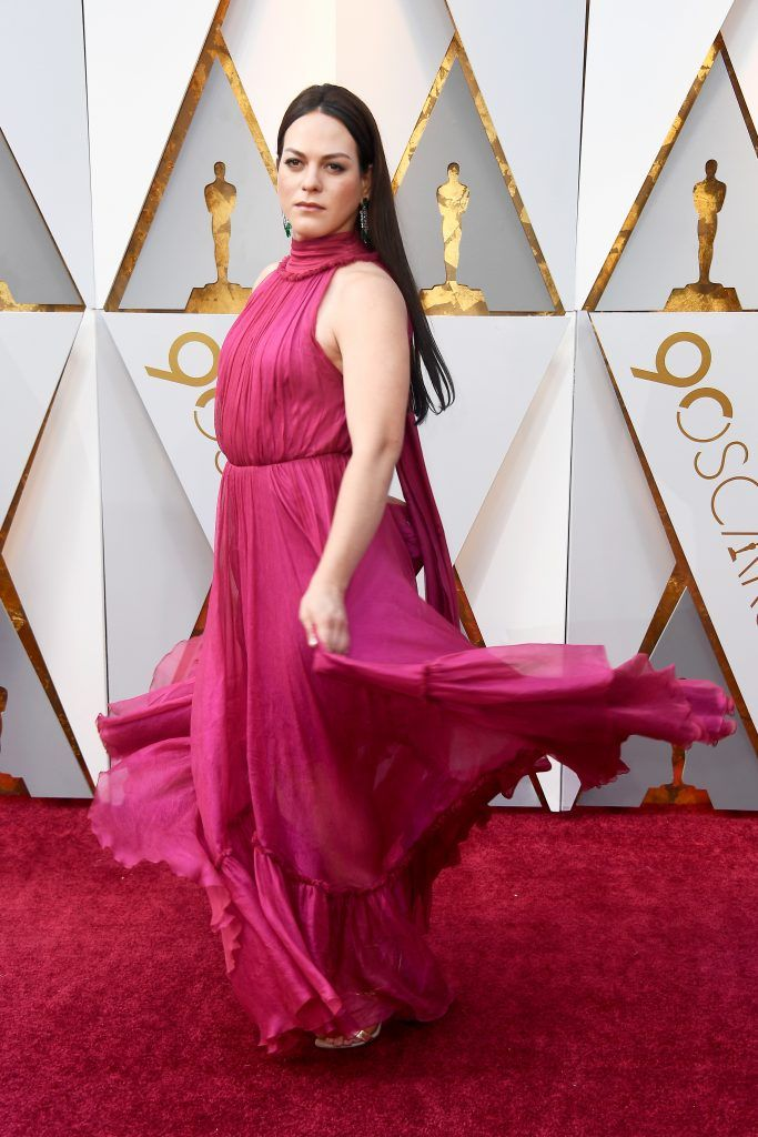 HOLLYWOOD, CA - MARCH 04:  Daniela Vega  attends the 90th Annual Academy Awards at Hollywood & Highland Center on March 4, 2018 in Hollywood, California.  (Photo by Frazer Harrison/Getty Images)