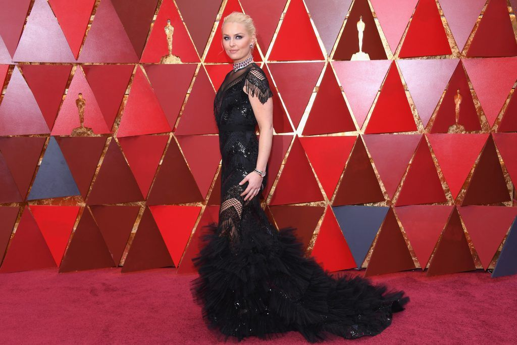 HOLLYWOOD, CA - MARCH 04:  Lindsey Vonn attends the 90th Annual Academy Awards at Hollywood & Highland Center on March 4, 2018 in Hollywood, California.  (Photo by Kevork Djansezian/Getty Images)