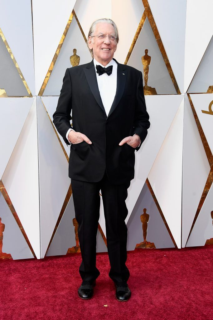 HOLLYWOOD, CA - MARCH 04:  Donald Sutherland attends the 90th Annual Academy Awards at Hollywood & Highland Center on March 4, 2018 in Hollywood, California.  (Photo by Frazer Harrison/Getty Images)