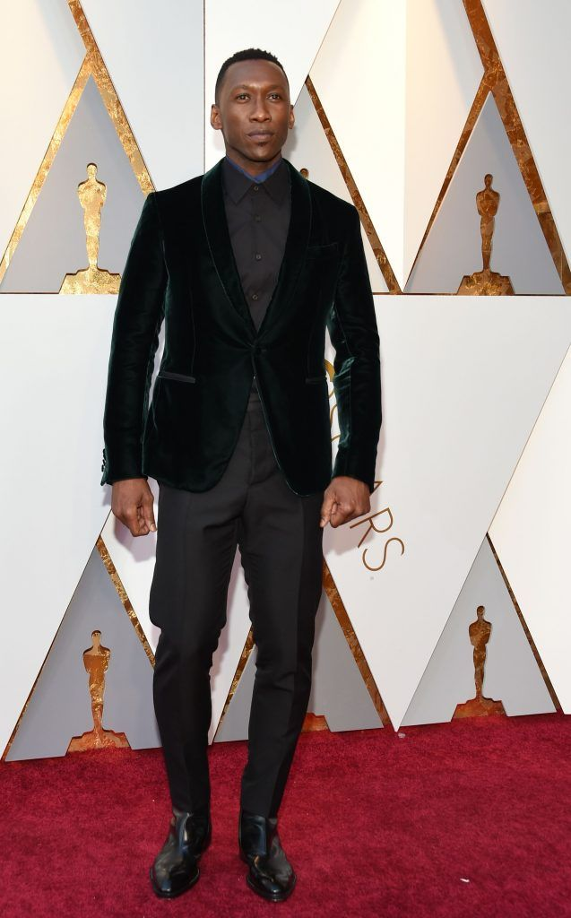 Mahershala Ali  arrives for the 90th Annual Academy Awards on March 4, 2018, in Hollywood, California.  / AFP PHOTO / VALERIE MACON        (Photo credit should read VALERIE MACON/AFP/Getty Images)