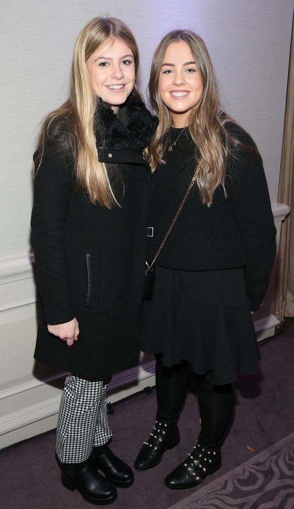 Jessica Grealis and Alba Walsh pictured at the launch of Clarins Extra Firming at The Westbury Hotel, Dublin. Pic Brian McEvoy