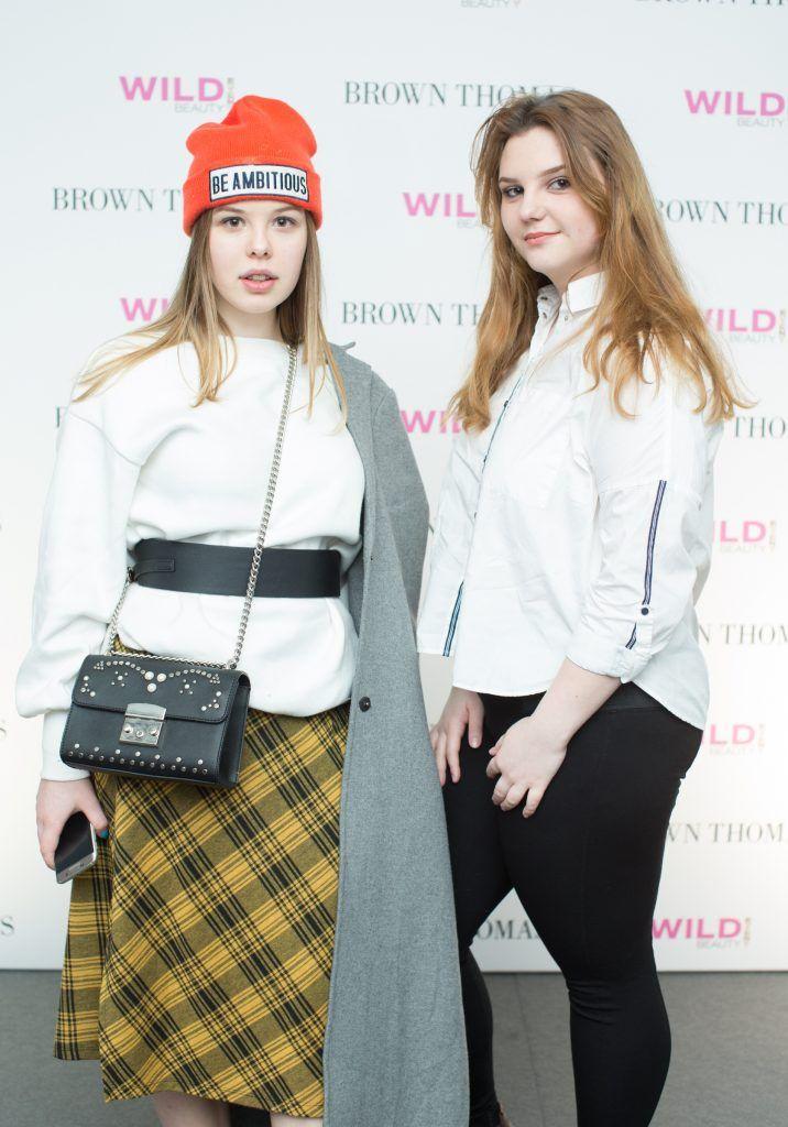 Olga Gorelkova & Katrina Makarova pictured at the Brown Thomas Style Masterclass with Courtney Smith on March 7th 2018. Photo: Anthony Woods