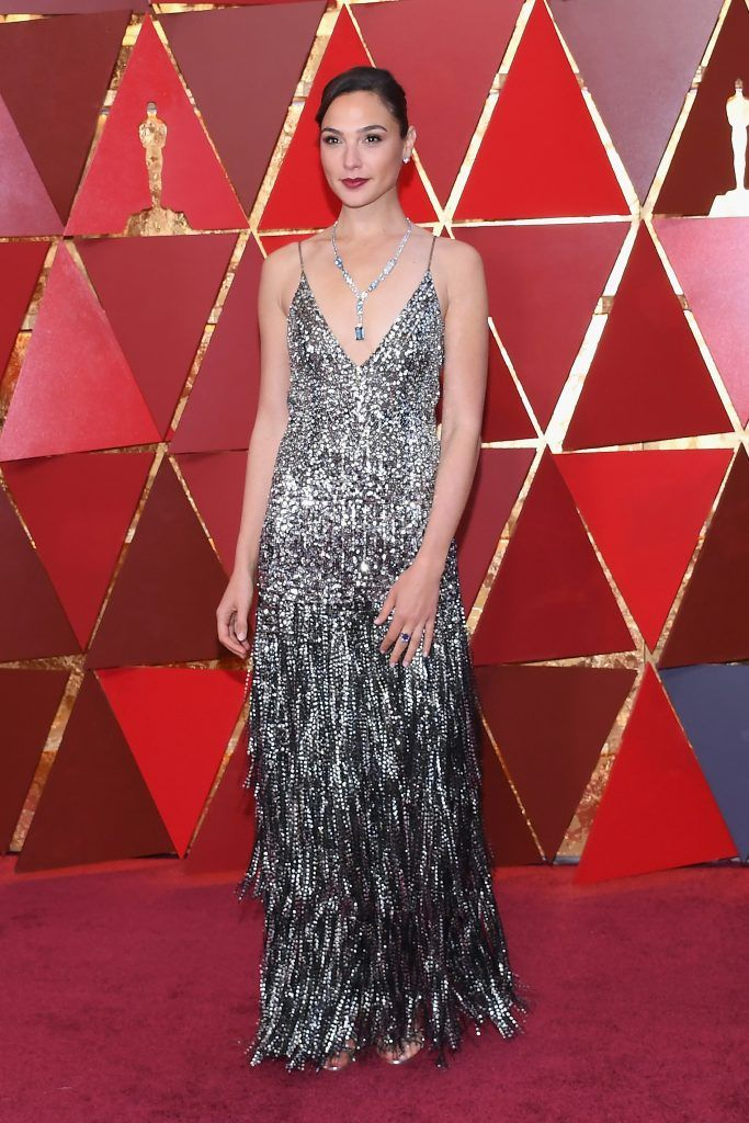 Gal Gadot attends the 90th Annual Academy Awards at Hollywood & Highland Center on March 4, 2018 in Hollywood, California.  (Photo by Kevork Djansezian/Getty Images)