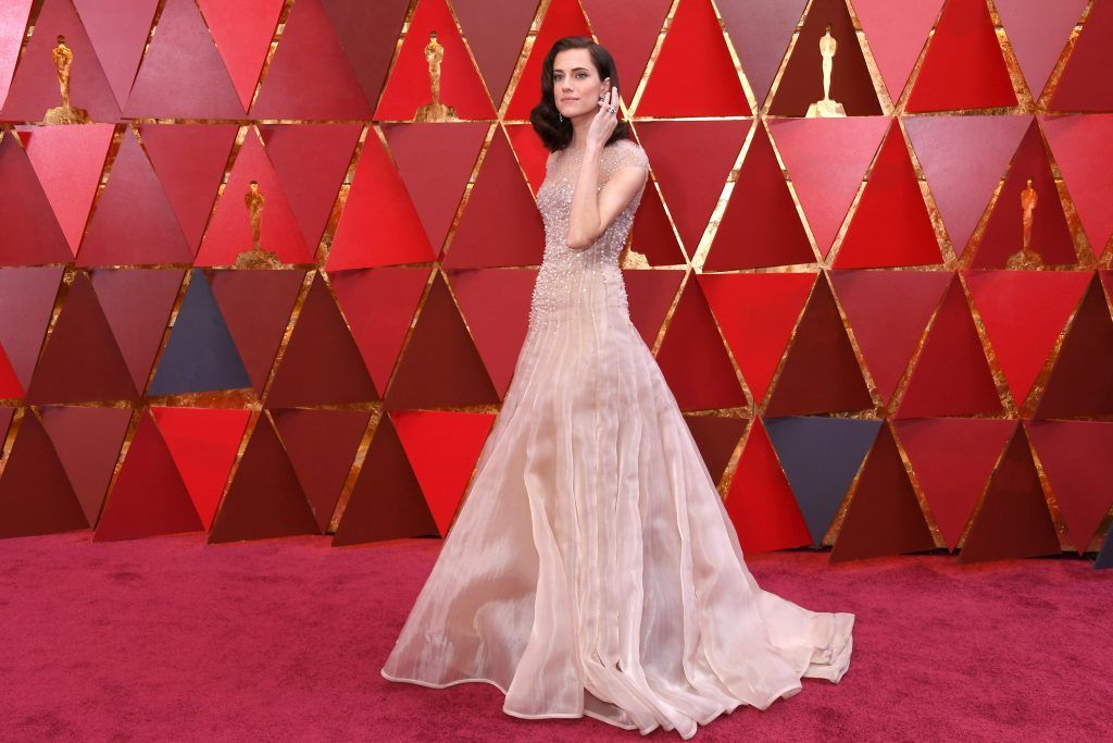 Allison Williams attends the 90th Annual Academy Awards at Hollywood & Highland Center on March 4, 2018 in Hollywood, California.  (Photo by Kevork Djansezian/Getty Images)