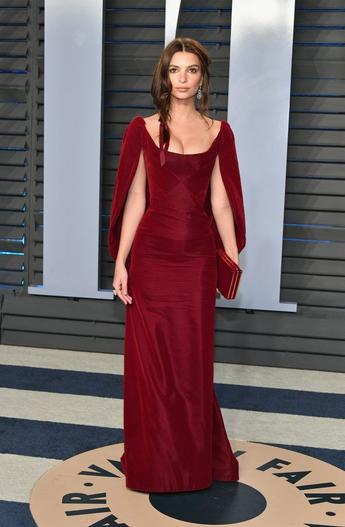 Belvedere Ambassador Emily Ratajkowski attends the 2018 Vanity Fair Oscar Party hosted by Radhika Jones at Wallis Annenberg Center for the Performing Arts on March 4, 2018 in Beverly Hills, California.  (Photo by Dia Dipasupil/Getty Images)