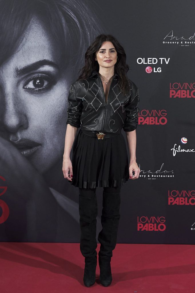 Actress Penelope Cruz attends 'Loving Pablo' photocall at Melia Serrano Hotel  on March 6, 2018 in Madrid, Spain.  (Photo by Carlos Alvarez/Getty Images)