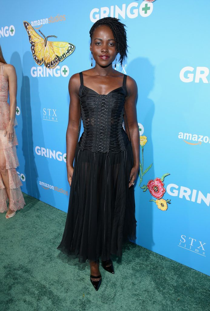 Actor Lupita Nyong'o attends the world premiere of 'Gringo' from Amazon Studios and STX Films at Regal LA Live Stadium 14 on March 6, 2018 in Los Angeles, California.  (Photo by Phillip Faraone/Getty Images)