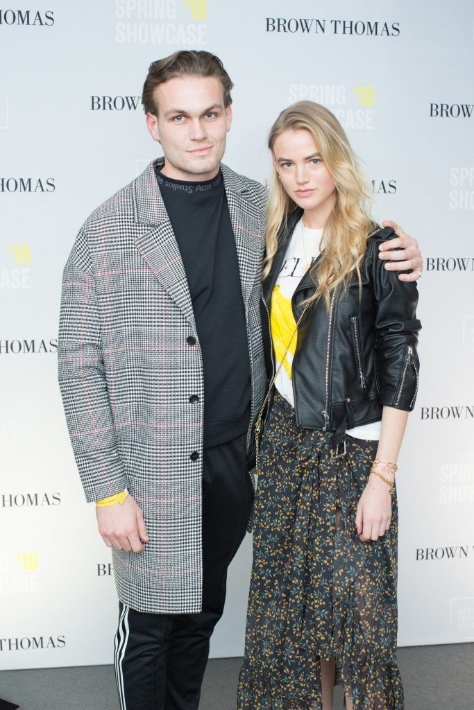 Ashley Duane & Vanessa O'Connell at the Brown Thomas x MFI Magazine Spring 2018 showcase of the luxury store's exclusive new menswear collections on Friday 9th March. Photo: Anthony Woods