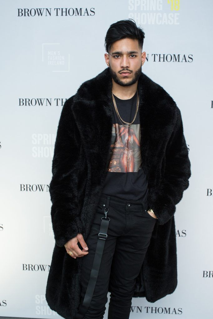 Satvir Makhan at the Brown Thomas x MFI Magazine Spring 2018 showcase of the luxury store's exclusive new menswear collections on Friday 9th March. Photo: Anthony Woods