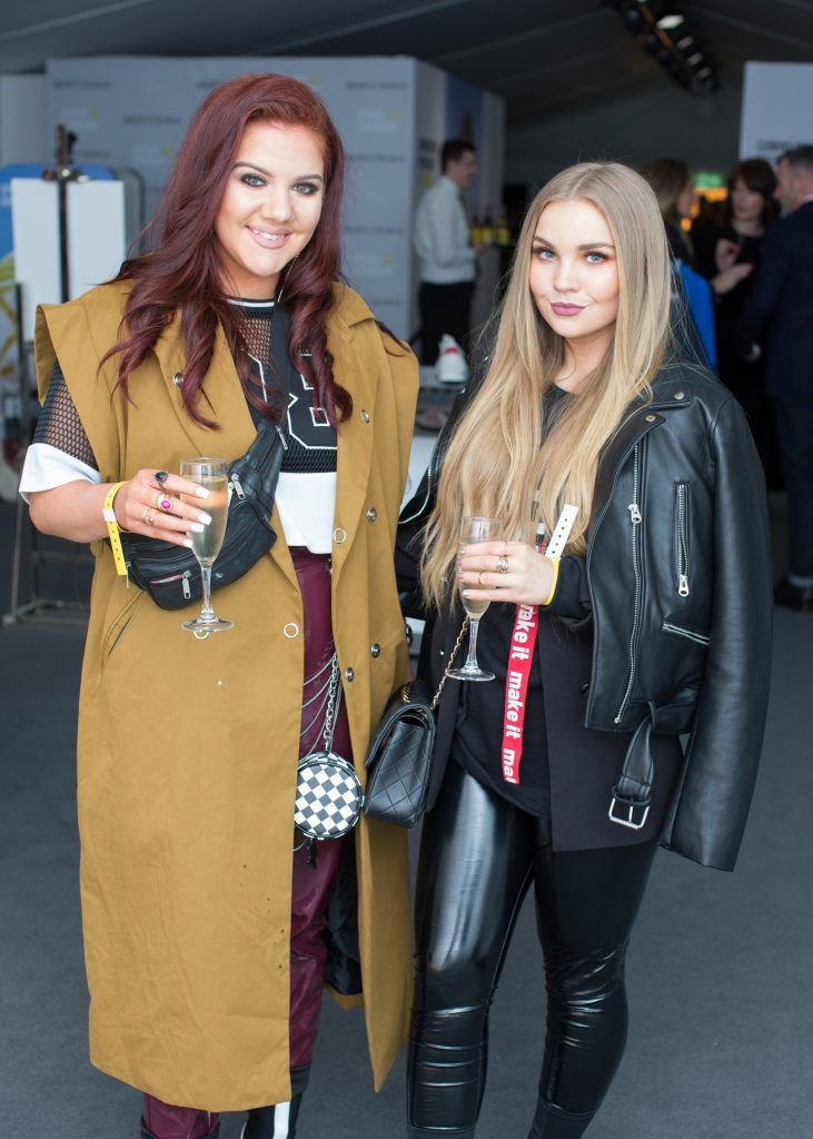 Erica Morgan & Sarah Toal at the Brown Thomas x MFI Magazine Spring 2018 showcase of the luxury store's exclusive new menswear collections on Friday 9th March. Photo: Anthony Woods