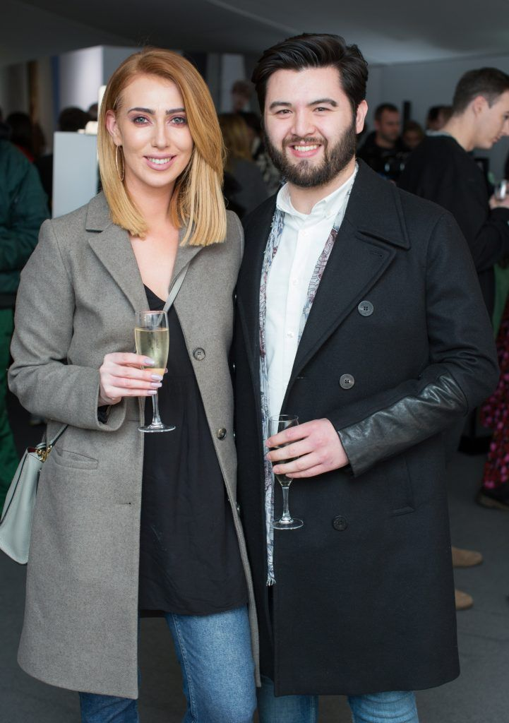 Holly Power & Luke Hosey at the Brown Thomas x MFI Magazine Spring 2018 showcase of the luxury store's exclusive new menswear collections on Friday 9th March. Photo: Anthony Woods