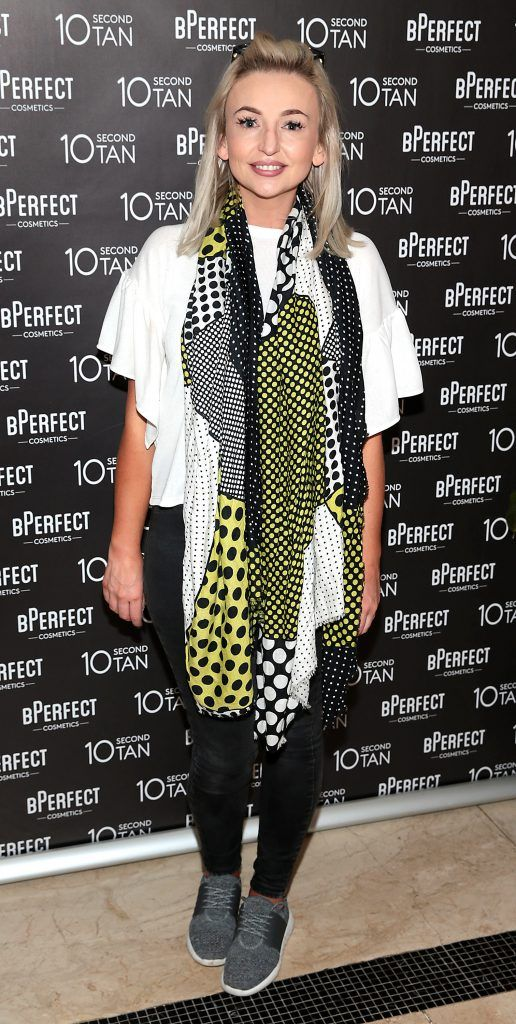 Jeanette Cronin at the launch of BPerfect Cosmetics 10 Second Tan Mousse in Wilde Restaurant at The Westbury Hotel, Dublin. Photo: Brian McEvoy