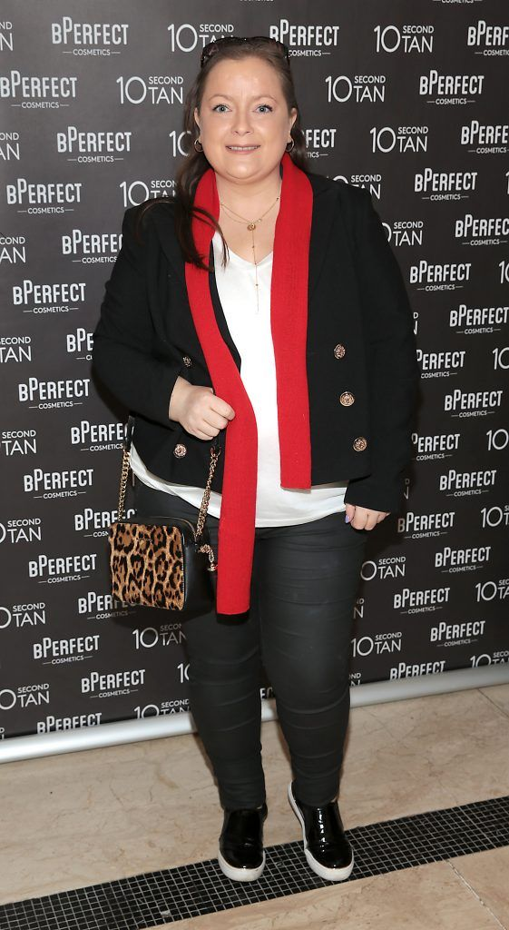 Gail O Connor at the launch of BPerfect Cosmetics 10 Second Tan Mousse in Wilde Restaurant at The Westbury Hotel, Dublin. Photo: Brian McEvoy