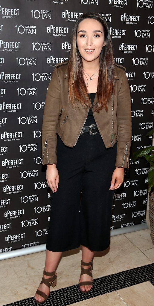 Denise Brophy at the launch of BPerfect Cosmetics 10 Second Tan Mousse in Wilde Restaurant at The Westbury Hotel, Dublin. Photo: Brian McEvoy
