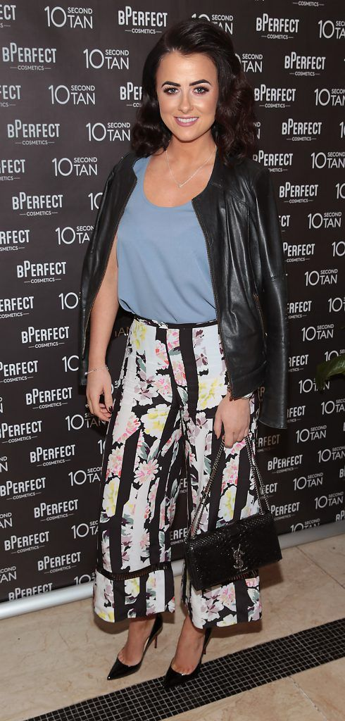 Lisa McHugh at the launch of BPerfect Cosmetics 10 Second Tan Mousse in Wilde Restaurant at The Westbury Hotel, Dublin. Photo: Brian McEvoy
