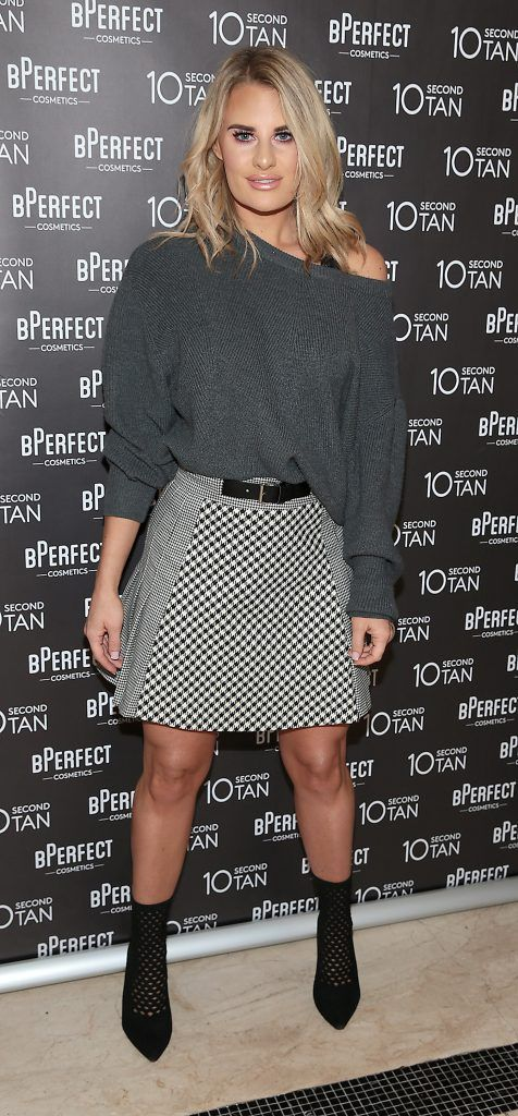 Danielle Armstrong at the launch of BPerfect Cosmetics 10 Second Tan Mousse in Wilde Restaurant at The Westbury Hotel, Dublin. Photo: Brian McEvoy