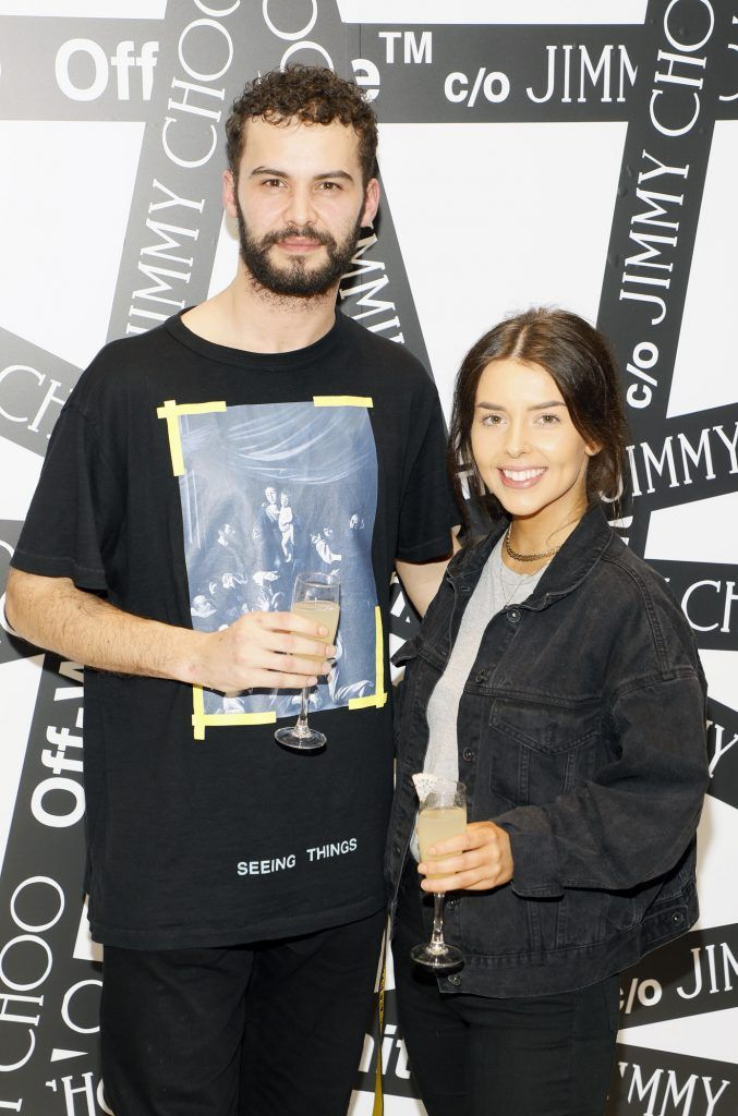 Adam Gaffey and Emily Curley at Brown Thomas' unveiling of the highly anticipated Off-White c/o Jimmy Choo collaboration in the Grafton Street store (8th March 2018). Photo: Kieran Harnett