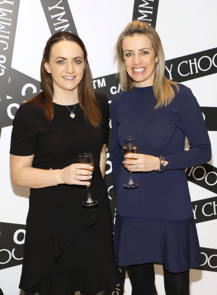Louise and Maria Scannell at Brown Thomas' unveiling of the highly anticipated Off-White c/o Jimmy Choo collaboration in the Grafton Street store (8th March 2018). Photo: Kieran Harnett