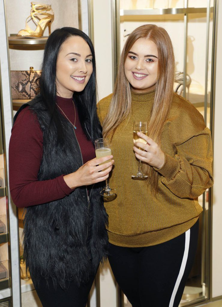 Tanya and Aine Kelly at Brown Thomas' unveiling of the highly anticipated Off-White c/o Jimmy Choo collaboration in the Grafton Street store (8th March 2018). Photo: Kieran Harnett