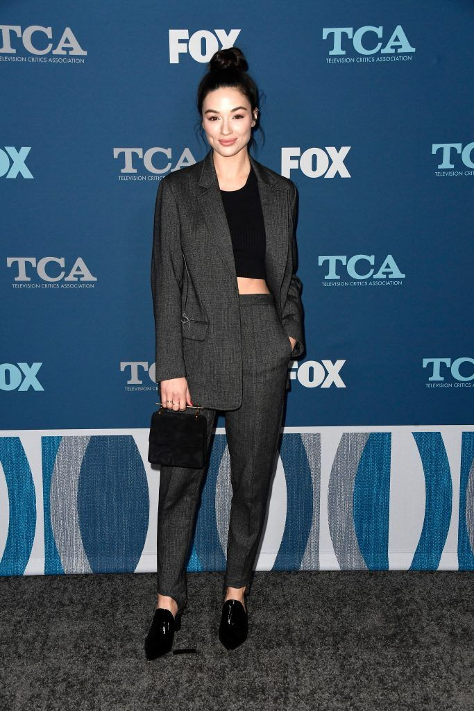 Crystal Reed attends the FOX All-Star Party during the 2018 Winter TCA Tour at The Langham Huntington, Pasadena on January 4, 2018 in Pasadena, California.  (Photo by Frazer Harrison/Getty Images)