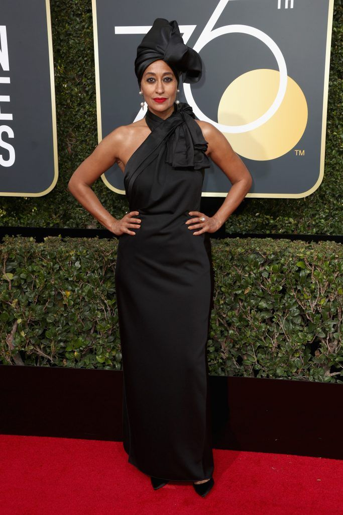 BEVERLY HILLS, CA - JANUARY 07:  Tracee Ellis Ross attends The 75th Annual Golden Globe Awards at The Beverly Hilton Hotel on January 7, 2018 in Beverly Hills, California.  (Photo by Frederick M. Brown/Getty Images)